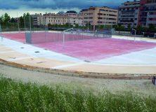 Obras de adecuación del entorno de la pista polideportiva de Artica