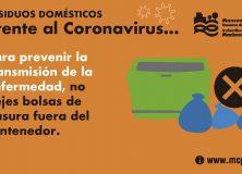 Tratamiento de residuos domésticos frente al coronavirus