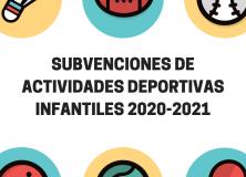 Subvenciones de actividades deportivas infantiles 2020-2021